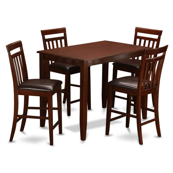 mahogany table and 4 dining room chairs 5 piece dining set