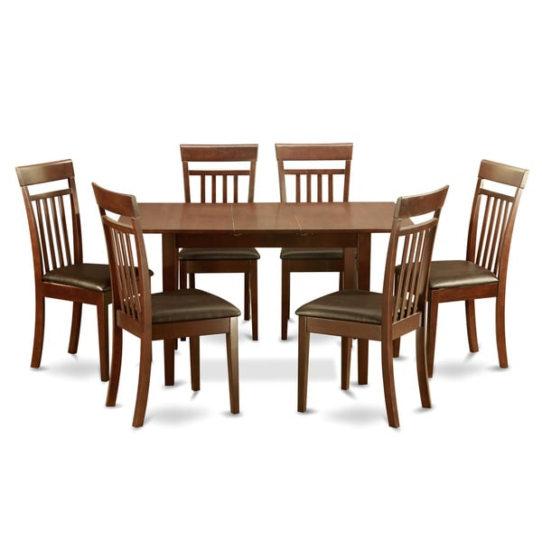 Mahogany Table And 6 Dining Table Chairs 7 Piece Dining