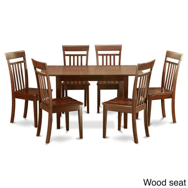 Shop Mahogany Table and 6 Dining Table Chairs 7-piece Dining ...