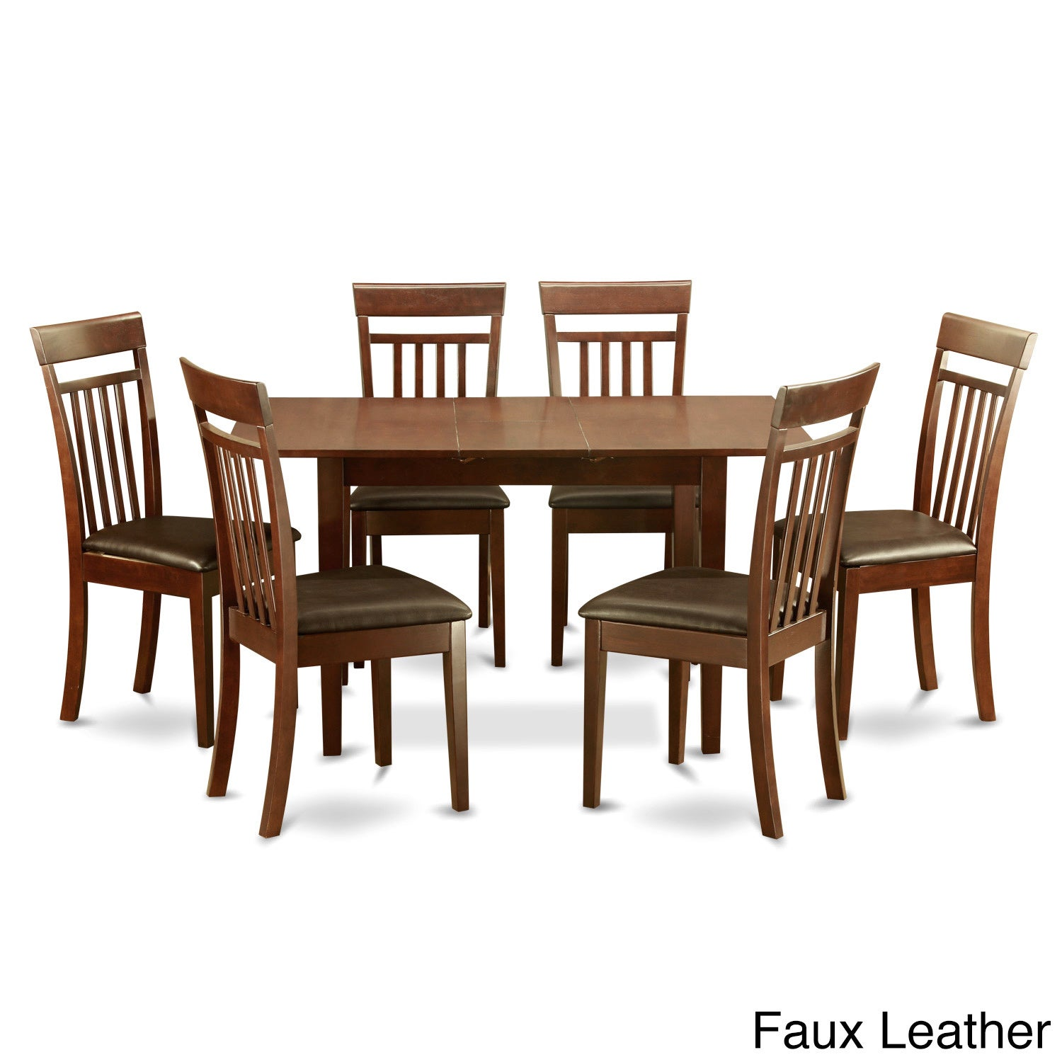 Mahogany Table And 6 Dining Chairs 7 Piece Set