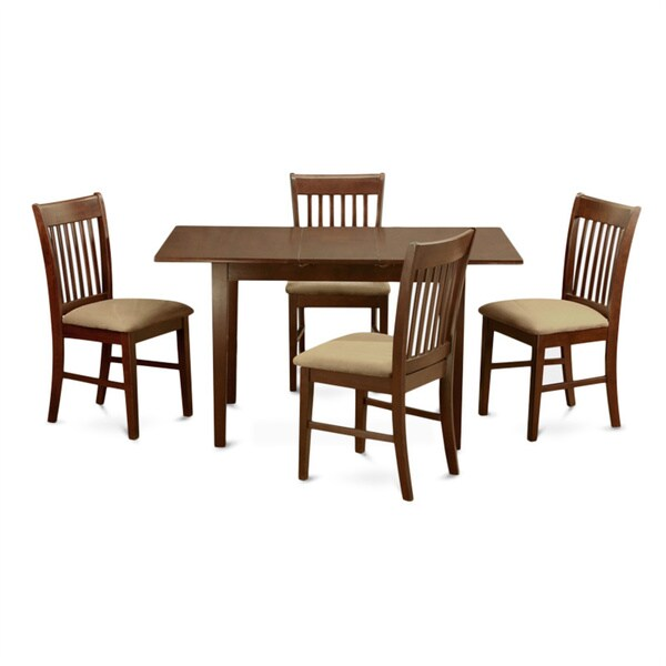 Shop Mahogany Table With 12-inch Leaf And 4 Chairs 5-piece