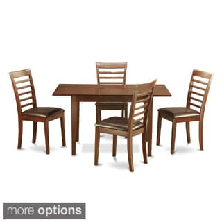 Mahogany TableA Leaf and 2 Chairs 5-piece Dining Set