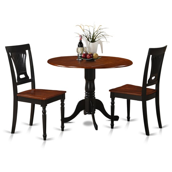 Dining Table Sets Black And White Dining Table 4 Chairs: Black And Cherry Round Table And Two Dinette Chair 3-piece