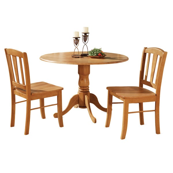 Shop Oak Kitchen Dining Nook And 2 Dinette Chairs Chairs 3