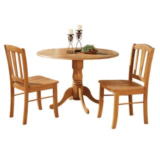 Oak Kitchen Dining Nook and 2 Dinette Chairs Chairs 3-piece Dining Set