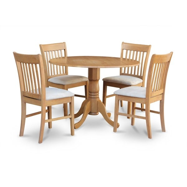 Oak Kitchen Sets: Shop Oak Round Kitchen Table And 4 Chairs 5-piece Dining