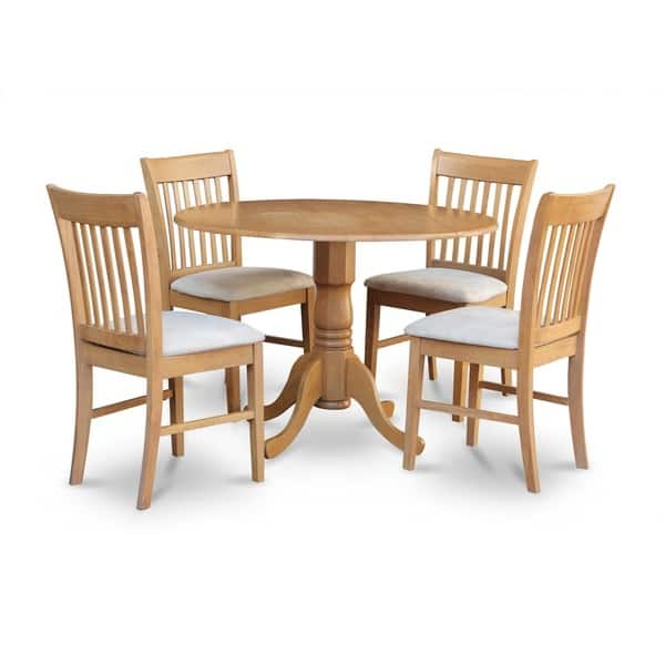 Shop Oak Round Kitchen Table and 4 Chairs 5-piece Dining Set ...
