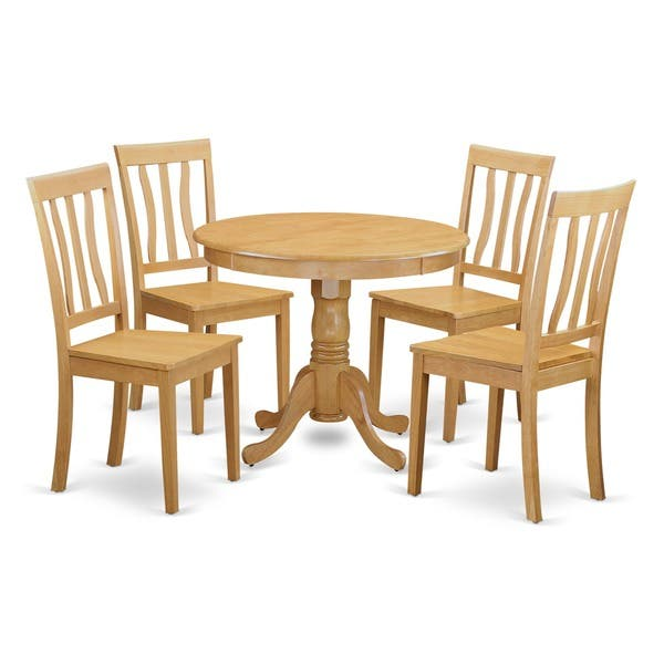 Shop Oak Small Kitchen Table and 4 Chairs Dining Set - Free ...