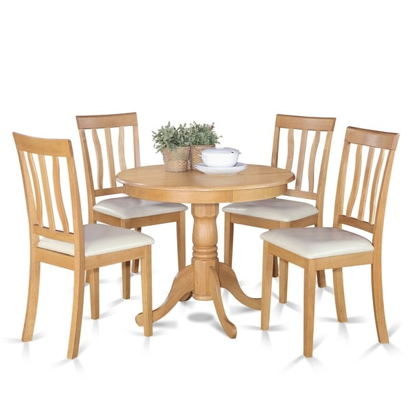 Oak Kitchen Sets: Shop Oak Small Kitchen Table And 4 Chairs Dining Set