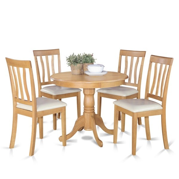 Kitchenette Table And Chair Sets: Shop Oak Small Kitchen Table And 4 Chairs Dining Set