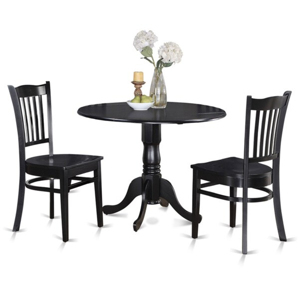 Round Kitchen Table And 2 Dinette Chairs 3 Piece Dining Set