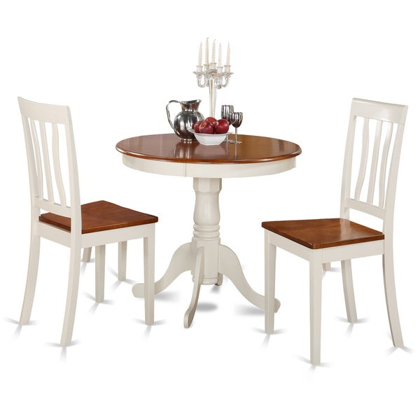 Buttermilk And Cherry Kitchen Table And Two Chair 3-piece