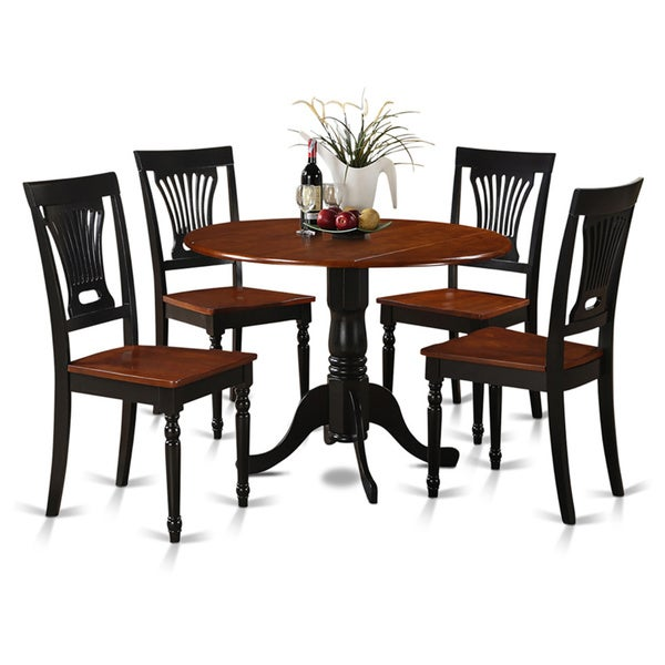 Cherry Dining Room Chairs: Shop Black And Cherry Table And Four Dinette Chair 5-piece