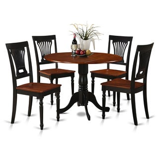 shop black and cherry table and four dinette chair 5 piece dining set free shipping today. Black Bedroom Furniture Sets. Home Design Ideas