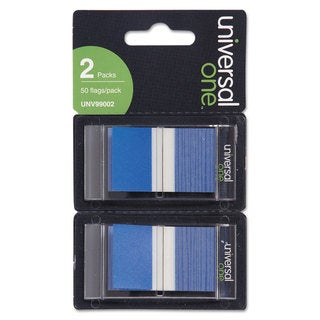Universal One Blue Page Flags (Pack of 300 Flags/12 Dispensers)