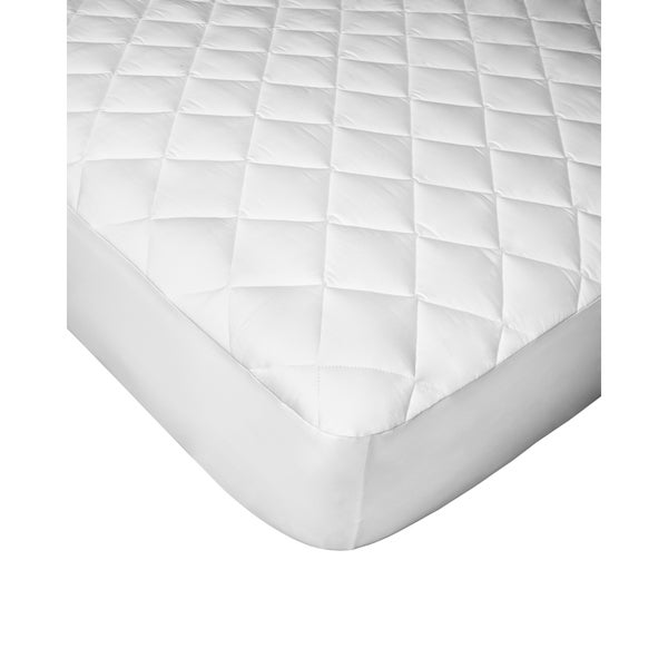 hygrosoft by welspun 300 thread count cotton mattress pad white