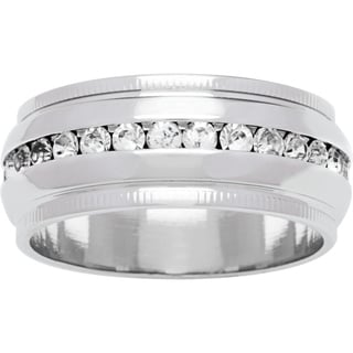 Simon Frank 'Beautiful Light' Collection Channel-set CZ Wedding Band