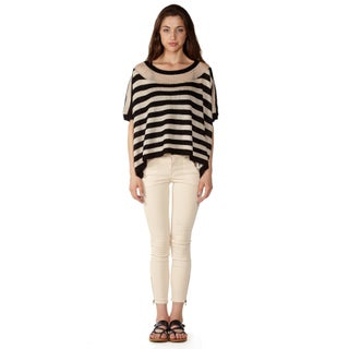 Dinamit Women's Pointelle Knit Stripe Sparkle Sweater (2 options available)