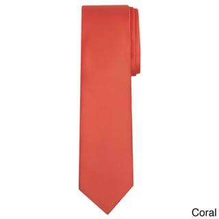 Jacob Alexander Men's XL Solid Color Tie
