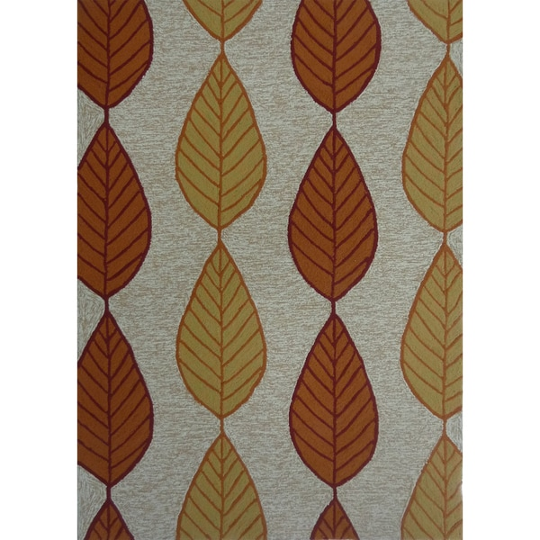 Fall Leaf Outdoor Rug 5 x 7 Free Shipping Today