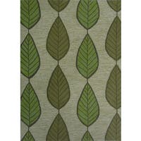 Green Leaf Outdoor Rug