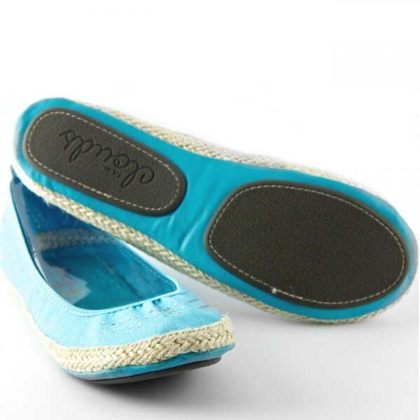 Blue Espadrille Folding Shoes