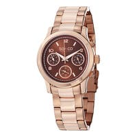SO&CO New York Women's Madison Quartz Rose Tone Watch with Link Bracelet