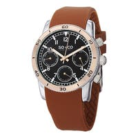 SO&CO New York Men's Yacht Club Quartz Rubber Strap Watch