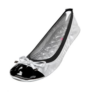 Silver Retro Folding Shoes