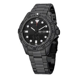 SO&CO New York Men's Yacht Club Quartz Stainless Steel Bracelet Watch