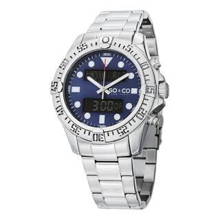 SO&CO New York Men's Yacht Club Quartz Stainless Steel Bracelet Watch|https://ak1.ostkcdn.com/images/products/10201530/P17325457.jpg?impolicy=medium