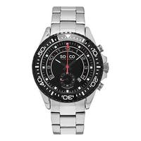 SO&CO New York Men's Yacht Club Quartz Stainless Steel Bracelet Watch - Silver