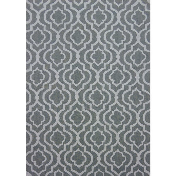 Grey Lattice Outdoor Rug 5 x 7 Free Shipping Today