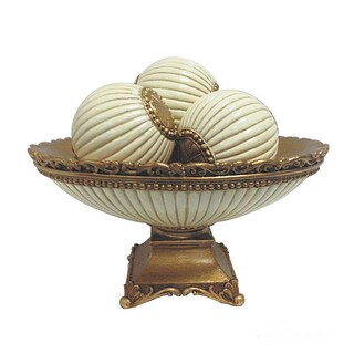 D'Lusso Designs Desiree 4-piece Bowl With Three Orbs Set