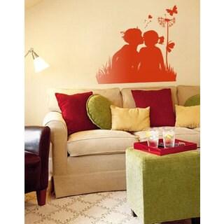 Kids Romantic Couple Love Vinyl Sticker Wall Art