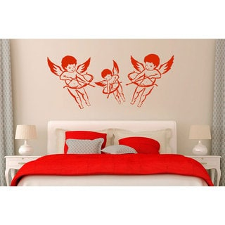 Angels of Love Cupids Vinyl Sticker Wall Art