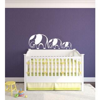 Mom and Baby Elephants Nursery Vinyl Sticker Art