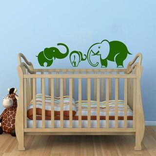 Mom and Baby Elephants Nursery Sticker Wall Vinyl Art