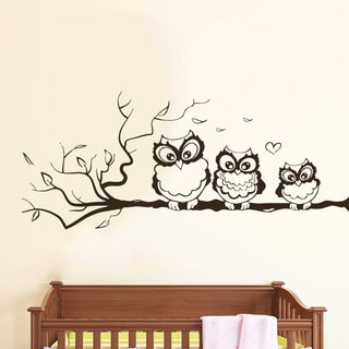 Winking Owl Nursery Vinyl Sticker Wall Art
