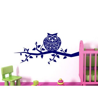 Cute Owl Playroom Nursery Vinyl Sticker Wall Art