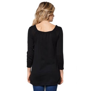 Stitches Women's Pullover Knitted 3/4 Sleeves Sweater