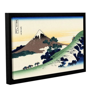 Katsushika Hokusai's 'Mt Fuji in the Sunset' Gallery Wrapped Floater-Framed Canvas