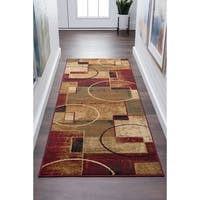 Alise Rugs Flora Contemporary Abstract Runner Rug - multi - 2'7 x 7'3