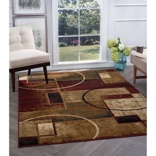 Alise Flora Abstract Multi Area Rug (5'3 x 7'3) - 5'3 x 7'3