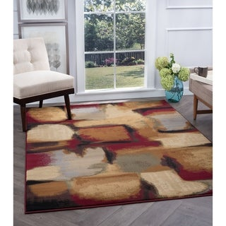 Alise Flora Multi Abstract Area Rug (5'3 x 7'3)