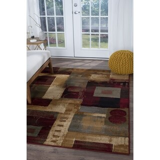 Alise Infinity Multi Abstract Area Rug (5'3 x 7'3)