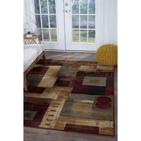 Alise Rugs Infinity Contemporary Abstract Area Rug - multi - 5'3 x 7'3