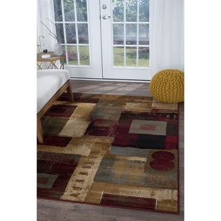 Alise Infinity Multi Abstract Area Rug (7'10 x 10'3)