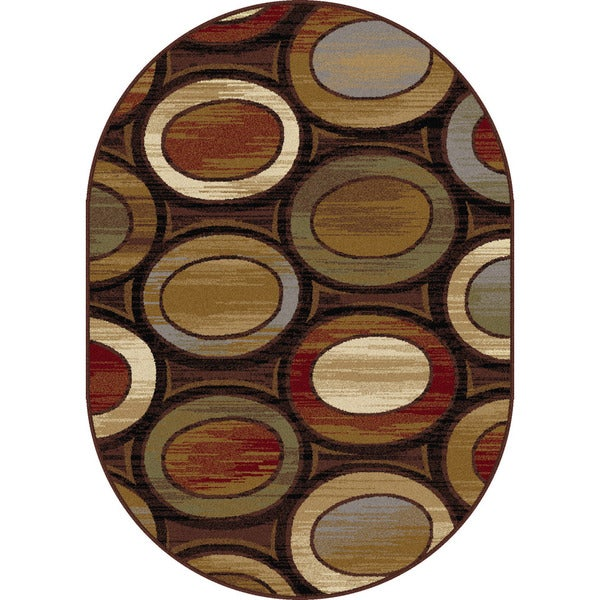 Alise Rhythm Multi Geometric Area Rug 5 3 X 7 3 Oval