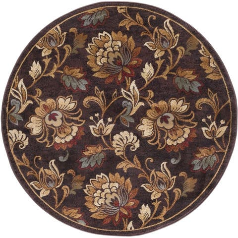 Alise Rugs Flora Transitional Floral Runner Rug